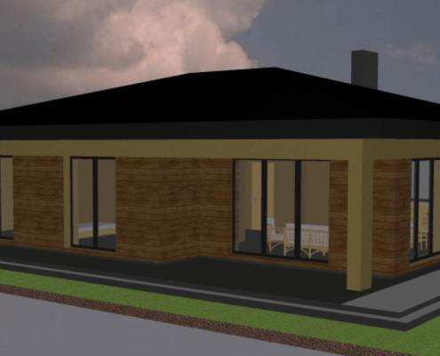 Sava Architektūra namų projektai - 1-3D 2