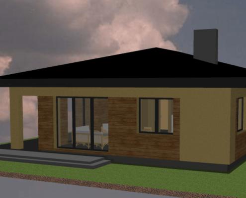 Sava Architektūra namų projektai - 1-3D 3