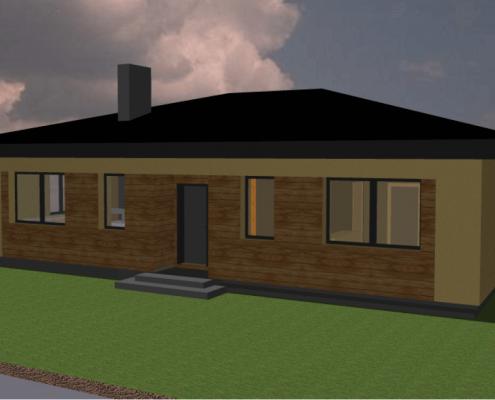 Sava Architektūra namų projektai - 1-3D