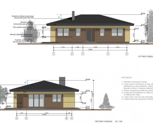 Sava Architektūra namų projektai - 1 fasadai 2