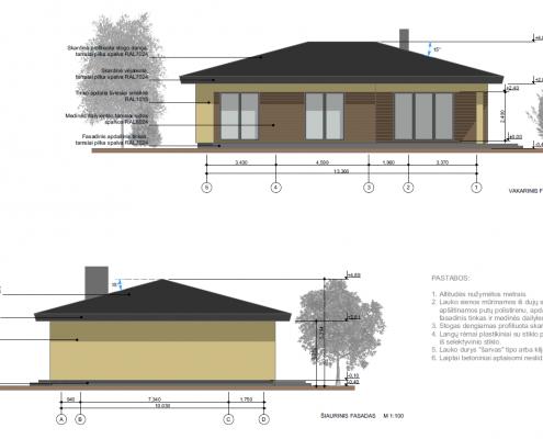 Sava Architektūra namų projektai - 1 fasadai