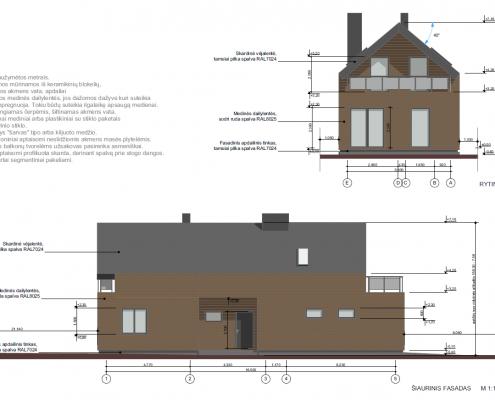 Sava Architektūra namų projektai - 2 fasadai 2