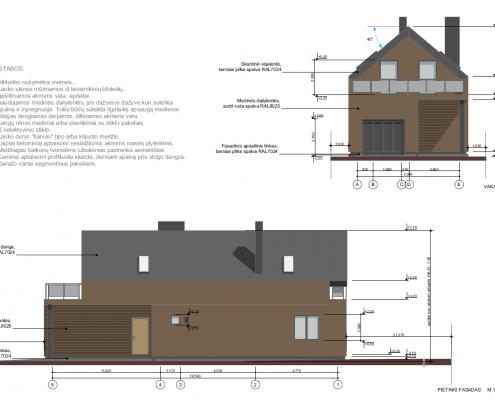 Sava Architektūra namų projektai - 2 fasadai