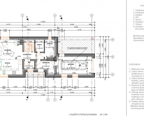 Sava Architektūra namų projektai - 2 planai I a.