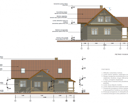 Sava Architektūra namų projektai - 3 fasadai