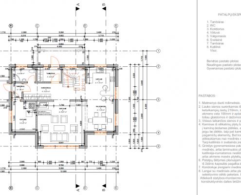 Sava Architektūra namų projektai - 3 planai I a.