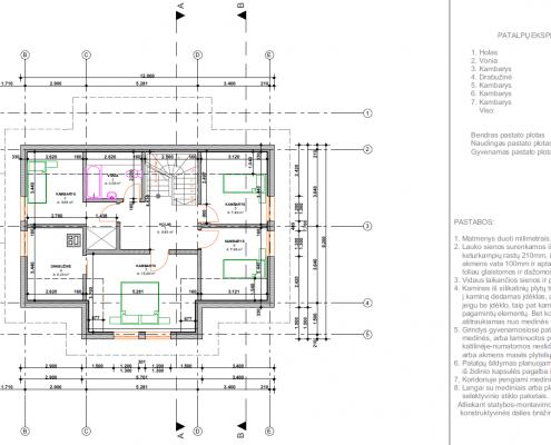 Sava Architektūra namų projektai - 3 planai mansarda