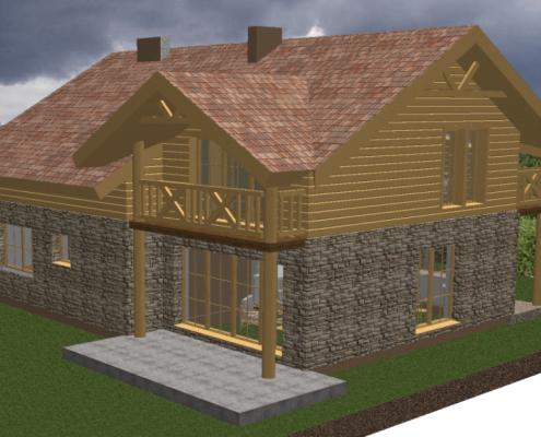 Sava Architektūra namų projektai - 4-3D 2