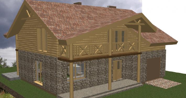 Sava Architektūra namų projektai - 4-3D