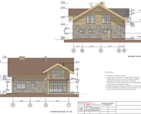 Sava Architektūra namų projektai - 4 fasadai