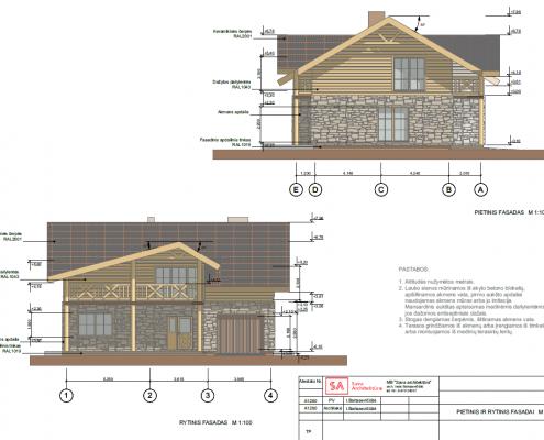 Sava Architektūra namų projektai - 4 fasadai 2