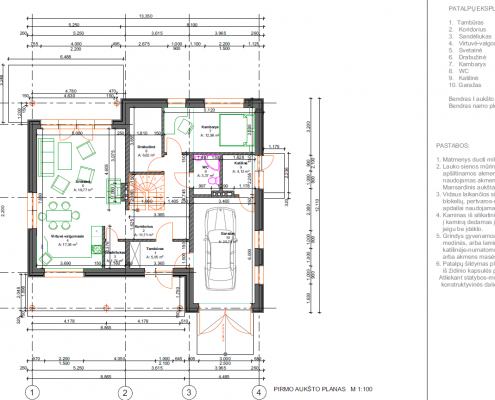 Sava Architektūra namų projektai - 4 planai I a.