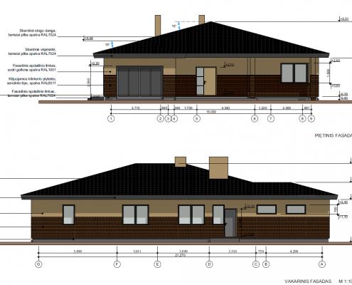 Sava Architektūra namų projektai - 5 fasadai 2
