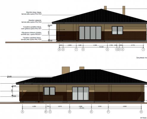 Sava Architektūra namų projektai - 5 fasadai