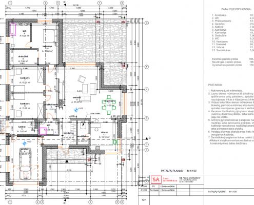 Sava Architektūra namų projektai - 5 planai