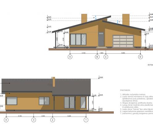Sava Architektūra namų projektai - 6 fasadai 2