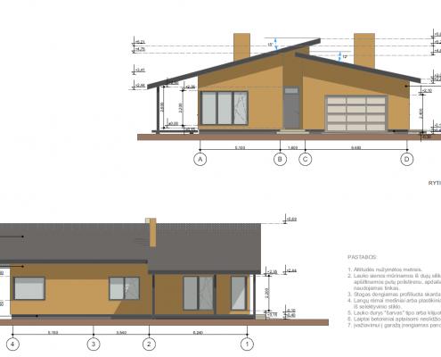 Sava Architektūra namų projektai - 6 fasadai