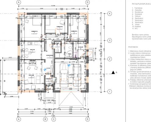 Sava Architektūra namų projektai - 6 planai