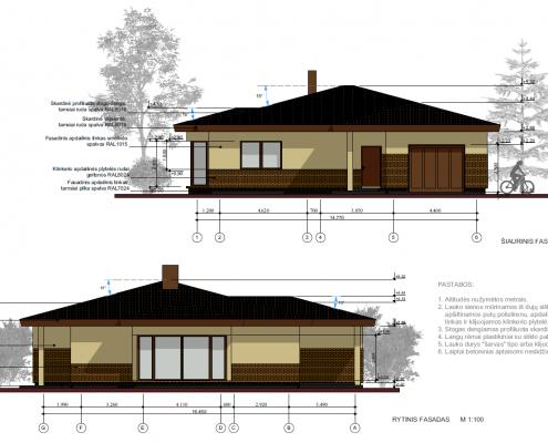 Sava Architektūra namų projektai - 7 fasadai 2