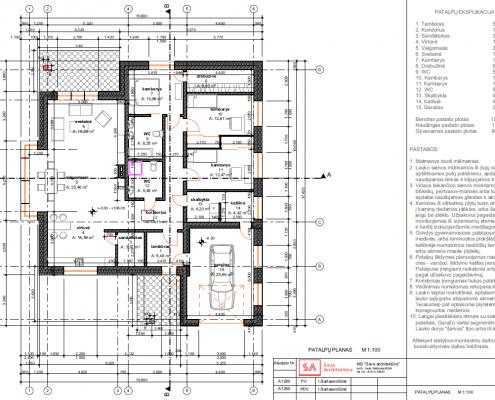 Sava Architektūra namų projektai - 7 planas