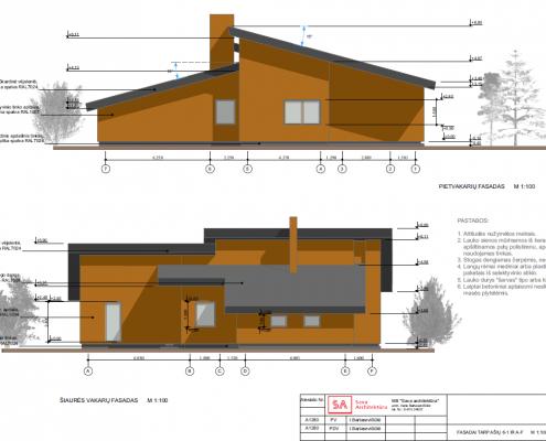 Sava Architektūra namų projektai - 8 fasadai 1