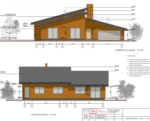 Sava Architektūra namų projektai - 8 fasadai 2
