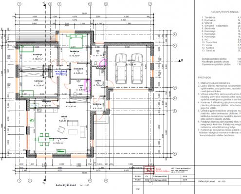 Sava Architektūra namų projektai - 8 planas